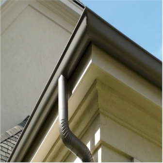Half round gutter installation in birmingham alabama jh for Painting aluminum gutters